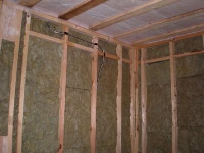 Утепление стен брусового дома изнутри