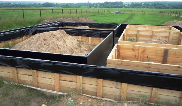 Ленточный фундамент под бани