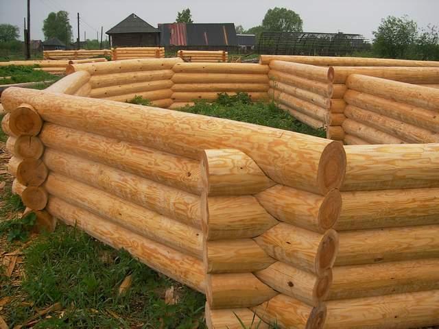 Сруб деревянной бани