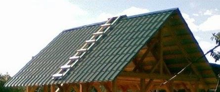 Крыша каркасной бани