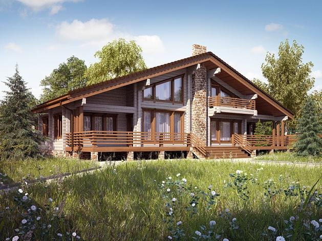 Дома в стиле шале – альпийское очарование