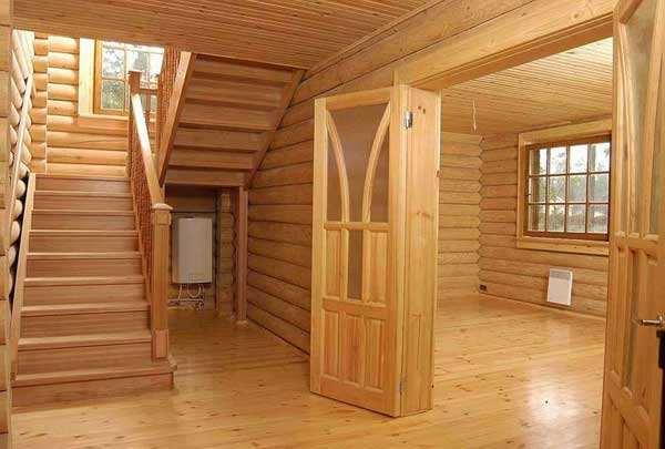 Внутренняя отделка дома фальшбрусом