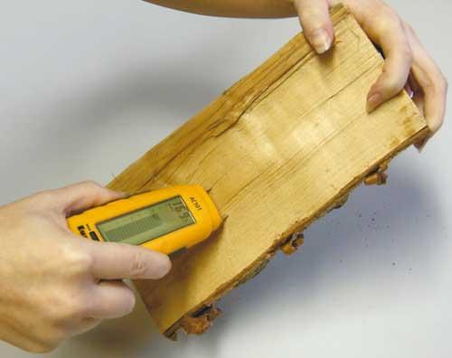 Как определить влажность пиломатериала?