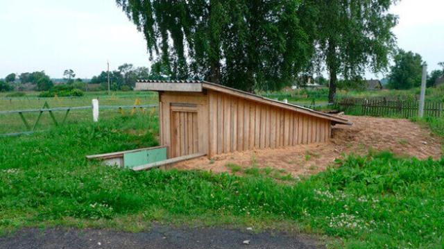 Овощехранилище на даче