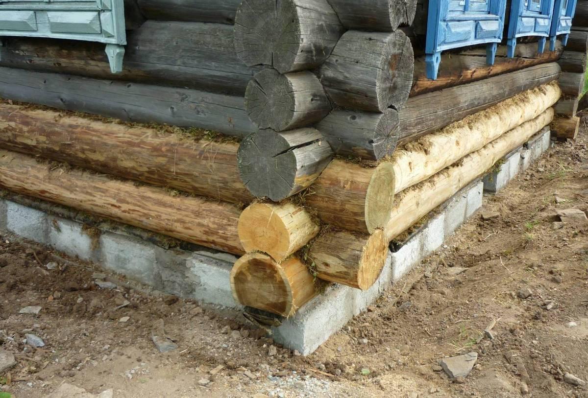 Как заменить нижние венцы в деревянном доме?
