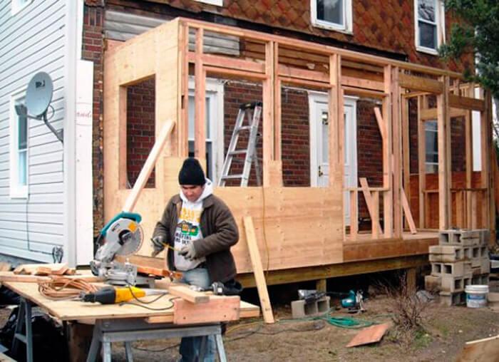 Как построить веранду крыльцо на даче своими руками фото