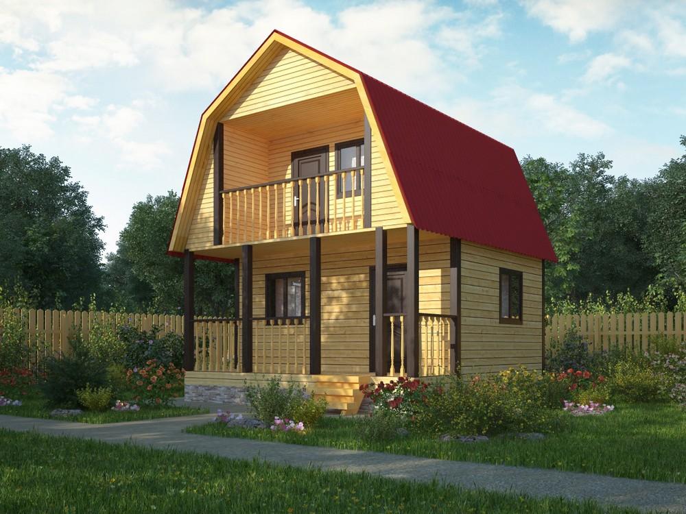 Дачные дома из профилированного бруса с мансардой. проекты, .